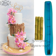 Yueyue Sugarcraft Bamboo silicone mold fondant mold cake decorating tools chocolate gumpaste mold(China)