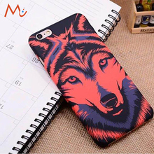 For iPhone 8 8 Plus Soft silicon back case Fashion printing forest animal wolf tiger thin cartoon for iPhone X 7 7Plus cover(China)