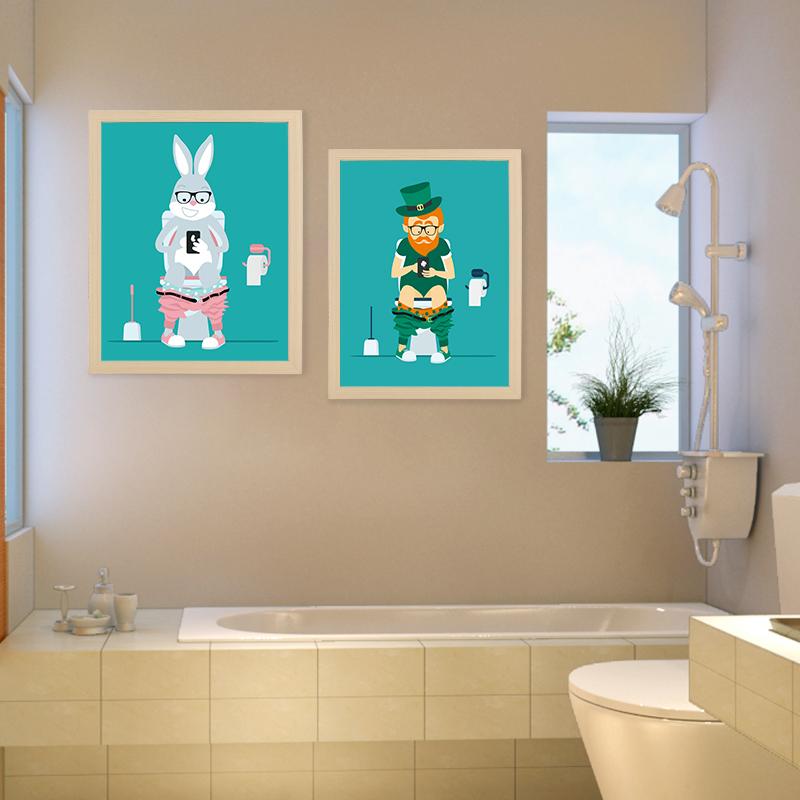 Acheter Moderne Mignon Santa Claus Toile Maison Decorative Mur Art