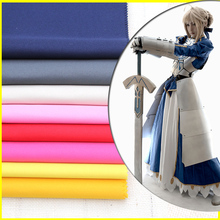 100*150cm Uniform Fabric Cosplay Clothing Solid Color Overalls Apron Handmade Nylon Suit Fabric Cloth