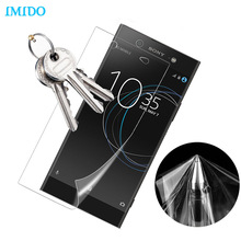 IMIDO 3D Full Cover Screen Protector Soft Film For Sony Xperia XZ XA1 ultra XP XZ Premium XZS X TPU Film (Not Tempered Glass)(China)