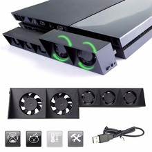 Hot Sale USB External Turbo Temperature Control Cooling 5 Fan Cooler for Sony for PS4 Promotion