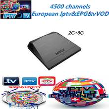 Boom iptv M96X andriod 6.0 4K Ultra HD 4500+UK italia germany iptv netherland spain Adult EX-YU tv box(China)