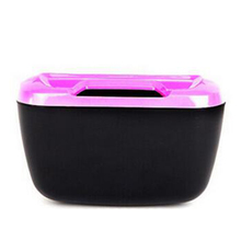 Newest Fashion Mini Car Auto Rubbish Dustbin/Trash Can Garbage Dust Case Box/Car Storage Case/Car Trash Bin rose and black