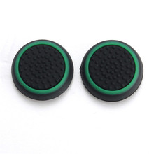 Good Quality Top Selling Thumb Stick Grip Case Joystick Case For Xbox For PS3 Game Controller Black+Green Color NEW