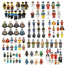 200 style minifigures compatible with Legoe small particle building blocks,   splicing toys, military police villain doll doll(China)