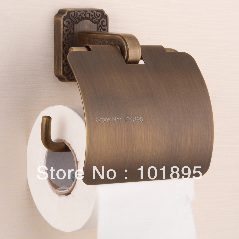 Retail - Luxury Brass Paper Holder, Bronze Color Bathroom Toilet Paper Holder with Wall Mounted, Free Shipping X16005N<br><br>Aliexpress
