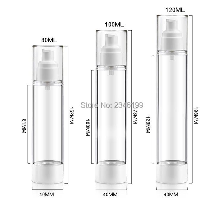 Dewarflask Plastic Bottle Transparent Spray Emulsion Bottle Lotion Pump Vacuum Spray Bottle Travel Bottling 20pcsLot (7)