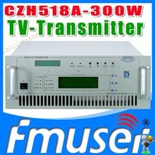CZH518A-300W VHF UHF All Solid State wireless analog TV Signal Broadcast transmitter TV Station Broadcasting Equipment(China)