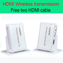 30m HDMI Wireless transmission Extender 98ft Transmitter and Receiver Support HDMI 1.4 HDCP 1.4 3D 1080P Free two HDMI cable