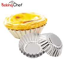 20Pcs/lot Mini Metal Egg Tart Baking Mold Cupcake Bakeware Maker Kicthen Cooking Tools Accessories Supplies Gear Stuff Product