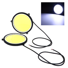 1 Pair Daytime Running Light Flexible Round Shape DRL Car Lights Car Driving lamp COB LED Lights Car Styling Universal(China)