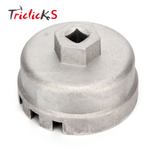 Triclicks New Oil Filter Wrench 64.5mm Cartridge Style Filter Housing Caps Silver Remover Tools For Toyota Prius Corolla Lexus