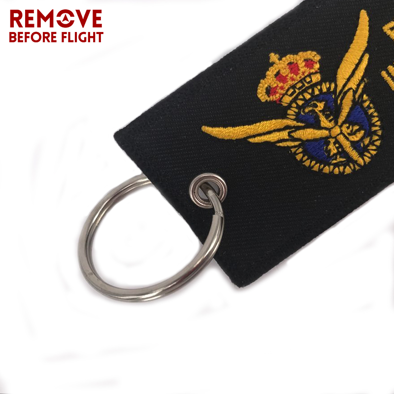 Pilot Key Chain for Motorcycles and Cars OEM Key Chains Embroidery Key Fobs Fashion Jewelry Aviation Gifts Fashionable Keychain  (2)