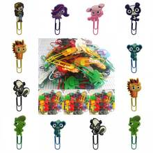 wholesale 100pcs pvc cartoon pet shop bookmark holder paper clip Book marker Office Supplies Stationery Book Page Holder(China)