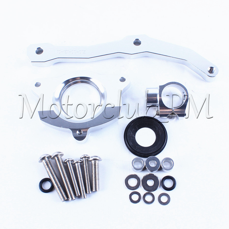 Steering Stabilize Damper Bracket Mount Kit For Kawasaki Z1000 2010-2013 2011 2012 Motorcycle Accessories New Silver<br>