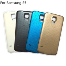 New OEM Battery Door S5 Back Cover Case For Samsung Galaxy S5 G900 G900f G900v i9600  Housing with Logo Black /White /Blue /Gold