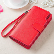 Synthetic Leather Women Wallets Brand Design High Quality 2016 Cell phone Card Holder Long wristlet Wallet Purse Clutch Wallet(China)