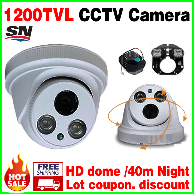Hot Sale!1/3cmos real HD 1200TVL Security Color AHDL CCTV Camera IR LED Night Vision Infrared 40m Dome Surveillance home Video<br><br>Aliexpress