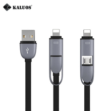 KALUOS 2-In-1 Universal Charger Cable 8-Pin+Micro USB Data Sync Charge Cable For iPhone 5/6 5S/6S 7 Samsung Android Phone Cable(China)