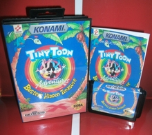 Tiny Toon Adventures-Buster's Hidden Treasure US Cover with Box and Manual for Sega MegaDrive Video Game Console 16 bit MD card(China)