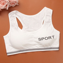 New Sporting Girls Bra Little Development Period Underwear Pure Cotton Students Small Wide Shoulder Vest Children  F0032