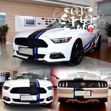 Good Quality Black /Blue trendy Head /Roof /Tail Sticker For Ford Mustang / Mondeo Z2CA502(China)