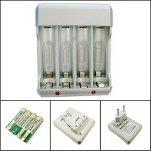 Charger BTY-825 Ni-MH Ni-Cd AA AAA 2.4V Rechargeable Battery Charger + 4pc AAA1350 series 1.2V 350mAh AAA Battery