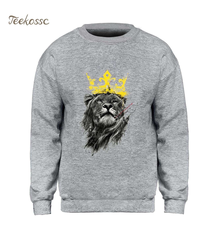 The Lion King Sweatshirt Men Cool Printed Hoodie Black Gray White Sweatshirts 2018 Winter Autumn Fleece Hoody Movie Streetwear