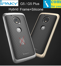 Original iPaky Hybrid Cover Case For Motorola Moto G5 Plus Slim Armor Protector Shell Frame + Silicone