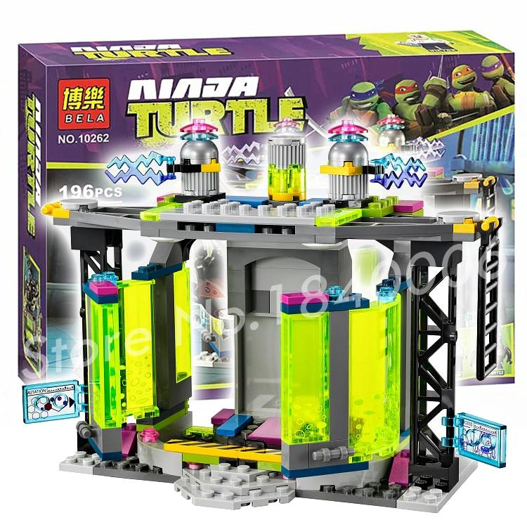 196Pcs Bela 10262 Turtles Mutation Chamber Unleashed Building Blocks Toys Compatible with Lego<br><br>Aliexpress