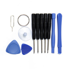 11 in 1 Screwdriver Set for Mobile Phones Opening Pry for iphone Samsung htc Moto Sony Cell Phone Repair Tool Herramientas Kit(China)