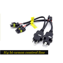 2 Article)h4 Bi-xenon Control Line Relay Wiring Harness Controller Wires Replacement For H4-3 Hi/low Kit (plug And Play