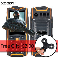XGODY F18 Waterproof Shockproof Phone GSM Dual Sim Cards IP68 4800mAh Power Bank Torch Light 2.4 Inch Mobile Phone Key Button