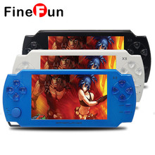 FineFun 5.0 inch 8GB X8 intelligence Console Handheld Game MP3 MP4 and 300 Games Support Download Handheld Console Free shipping(China)