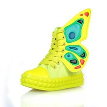 New Autumn Child Boots, HOT Selling High Top Children Shoes,Spring Boys Girls Sneakers Butterfly Wings Kids Canvas Shoes CSH012