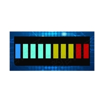 5Pcs/Lot 10 Segment Full Color LED Bargraph Light Display Module Ultra Bright Red Yellow Green Blue(RYGB) Dip DIY Free Shipping