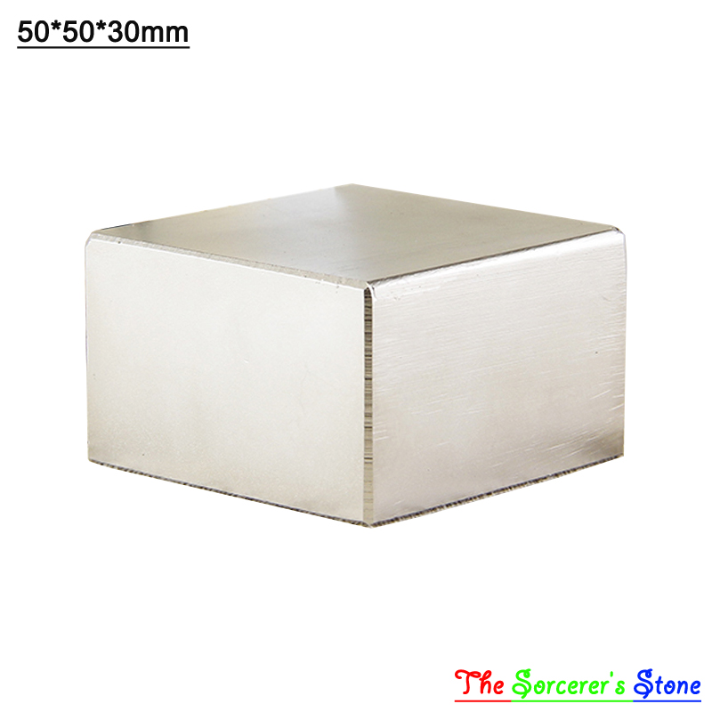 2pcs Super Strong 50x50x30mm   Rare Earth Neodymium Block Magnet  N52 Free Shipping<br>