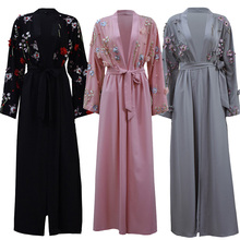 Hijab Dress Kimono Kaftan Islamic Clothing Abayas-Turkish Dubai Women Cardigan Oman Femme