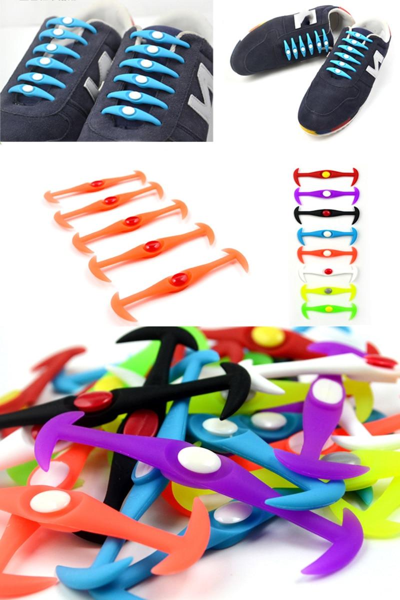 12pcslot Round No Tie Shoelaces Elastic Silicone Shoe Lace Multicolor Design Unisex Women Athletic Running For Shoes (18)