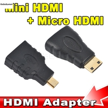 Kebidumei HDMI to Mini Micro HDMI HD Gold plating TV Adapter Converter for Xbox 360 for PS3 HDTV for HTC Evo 4G Mobile cable(China)