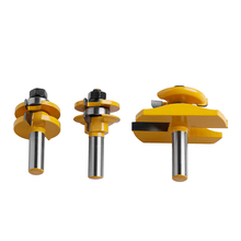 3Pcs 1/2'' Shank Rail & Stile Ogee Blade Cutter Panel Cabinet Router Bits Set #S018Y# High Quality(China)