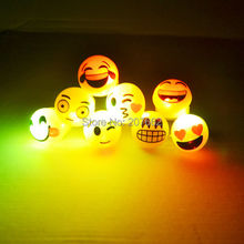 Free Shipping 36pcs/lot Light Up Flash Finger Rings Light-Up Emoji Jelly Rings Emoticon Flashing LED Emotions Favors Blinking