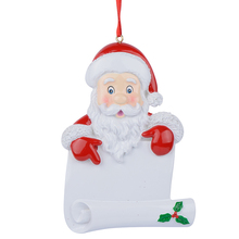 Wholesale Resin Santa Scroll Christmas Ornaments As Personalized Gifts For Holiday and Home Decor(China)