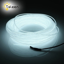 Cheap Led Strip EL Wire 2 3 5M Colorful Battery Powered 3V Flexible EL Wire Neon LED Light Portable Lamp Decorative Sring Line(China)