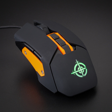 Hongsund  USB Wired Gaming Mouse 6 Button Optical RGB LED Lights Mouse Gamer 4000 DPI For PC Laptop Desktop Computer Game