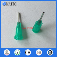 Products Assurance 100pcs/bag Industrial Tips 18G Green Color Dispensing Plastic Needle Tip(China)