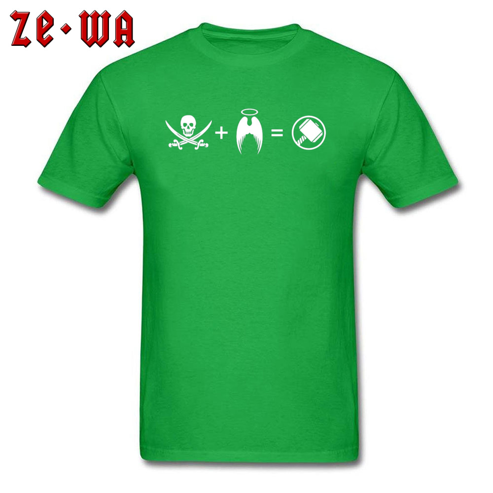 Men T-shirts Custom Classic T Shirt 100% Cotton Crew Neck Short Sleeve Casual Sweatshirts Summer Free Shipping Its Like A Pirate Had A Baby With An Angel green