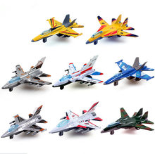 Mini Pull Back Aircraft Models Toys Metal Alloy Plane Toy Favorites Kids Christmas Gift Education Children Aircraft 8pcs/lot(China)