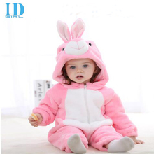 2016 Infant Romper Baby Boys Girls Jumpsuit New born Bebe Clothing Hooded Toddler Baby Clothes Cute Rabbit Romper Baby Costumes(China)